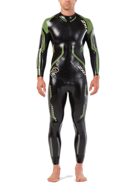 2XU Propel Pro Wetsuit Men black/neon green gecko